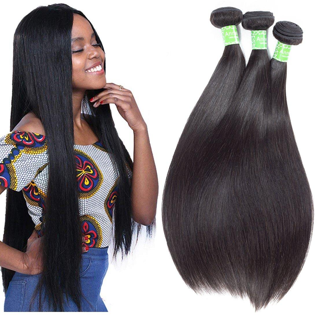 ANNELBEL Brazilian Straight Hair 3 Award-winning store Human Virgin Max 43% OFF 8A Bundles