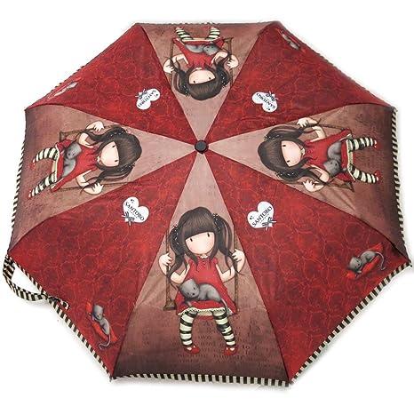 Paraguas automático Gorjuss Santorode color marrón rojizo ...