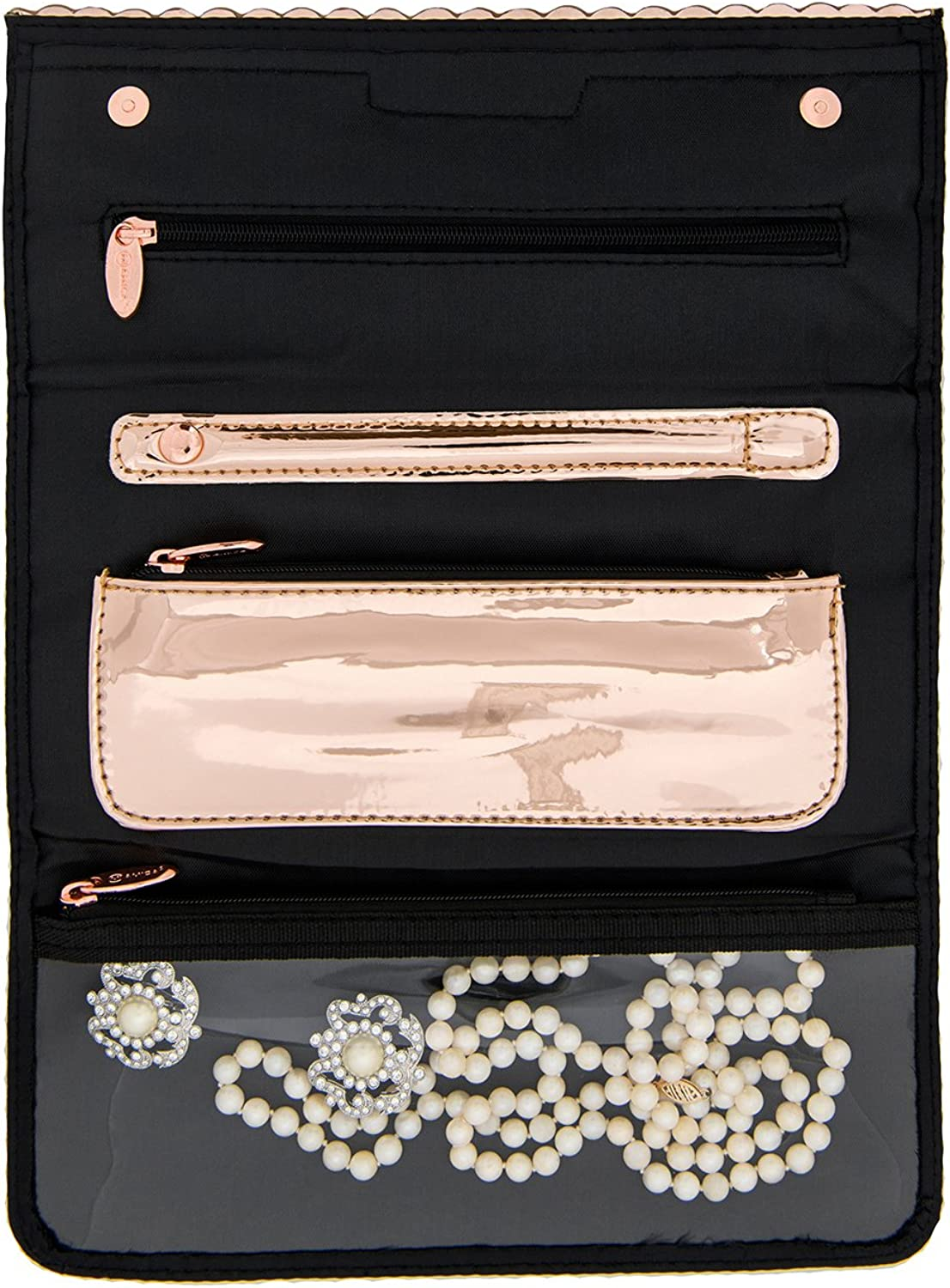 Miamica Tri-fold Jewelry Case Sparkly Things