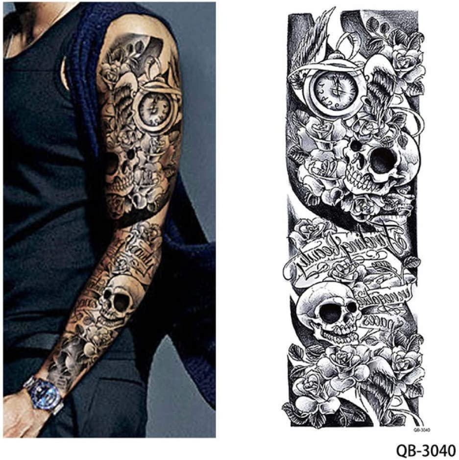 adgkitb 2 Piezas Temporal Tatuaje Pegatina Chica Orar diseño ...
