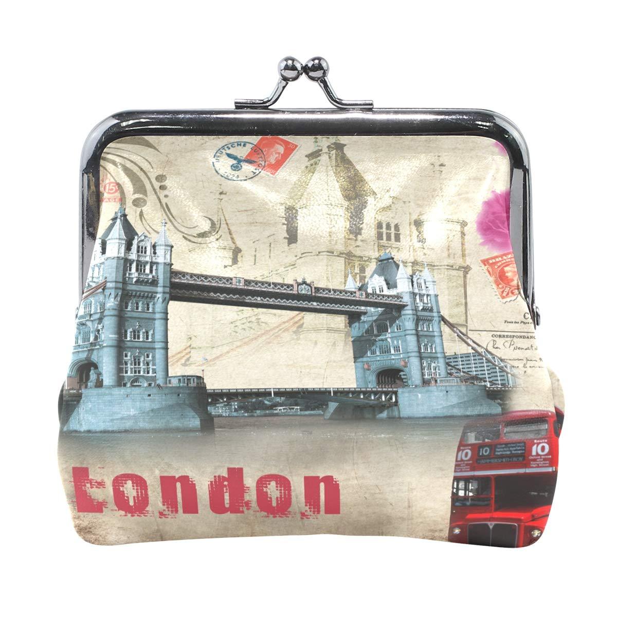 Women Wallet Purse Dream Of London Clutch Bag Leather