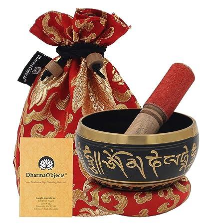 Amazon.com: dharmaobjects ~ tibetano om mani – Cuenco ...