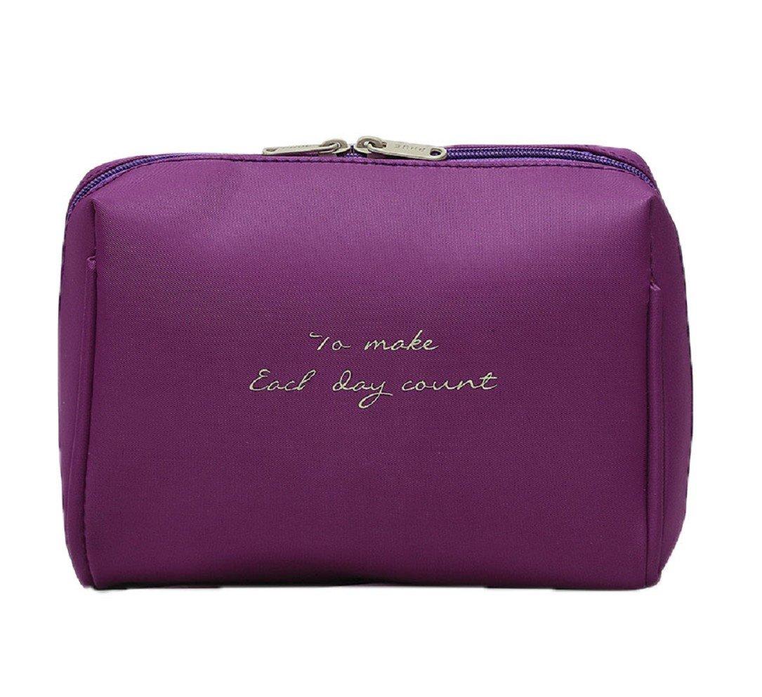 26ac506ef314 Amazon.com : YABINA Solid Color Makeup Bag for Travel and Home ...