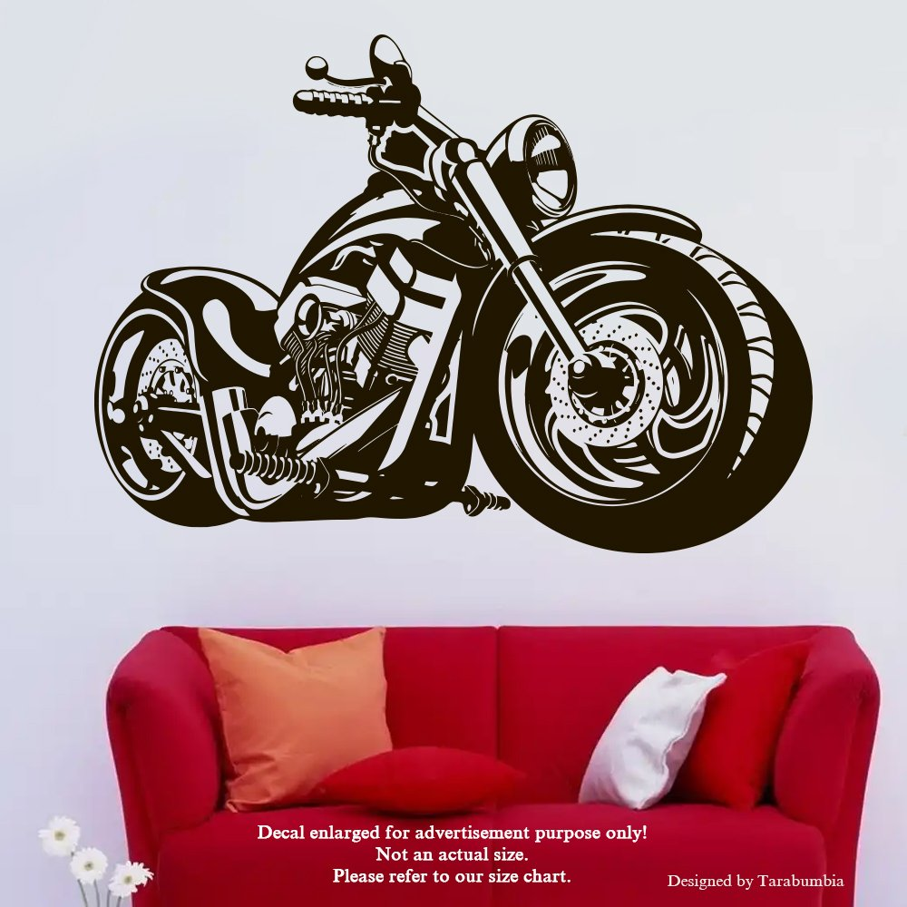 Amazon com custom bike wall decals motorcycle stickers decorative design ideas for your home or office walls removable vinyl murals ec 1213 arts