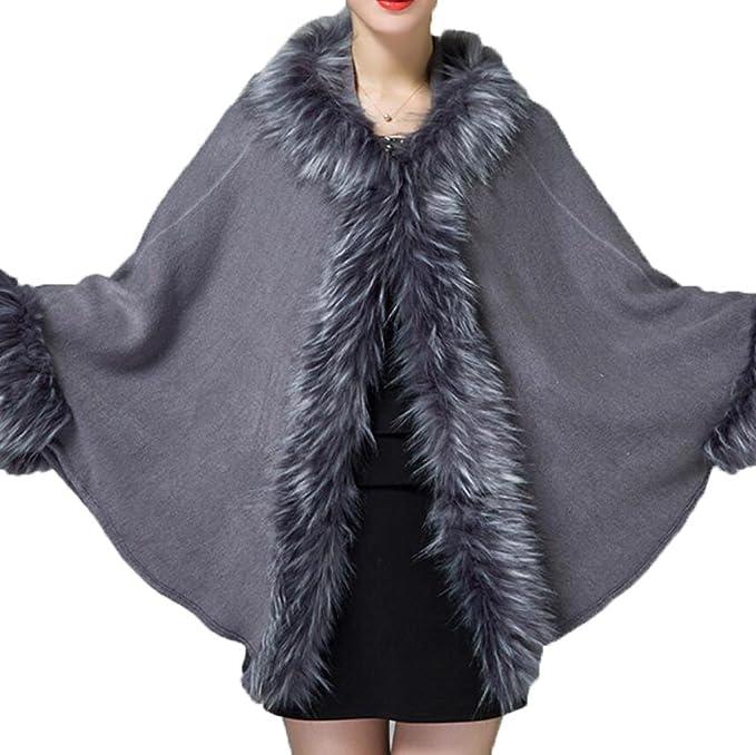 Señora Otoño E Invierno Suelta Con Capucha Hecha Punto Chaqueta De Abrigo Chaqueta Mujer Chaqueta, Grey-OneSize: Amazon.es: Ropa y accesorios
