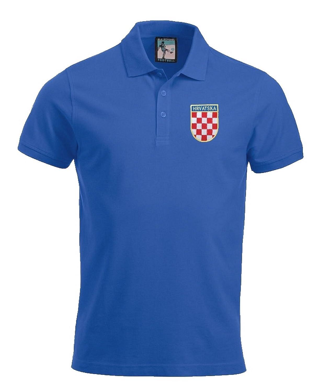 Croatia National Football Polo Sizes S-XXXL Embroidered Logo