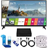 "LG 32LJ550B LJ550B Series 32"" Class Smart LED HDTV (2017 Model) Plus Terk Cut-the-Cord HD Digital TV Tuner and Recorder 16GB Hook-Up Bundle"