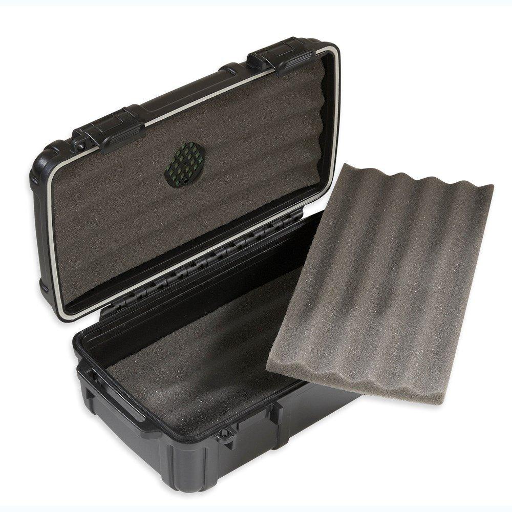 Herf-a-Dor Travel Humidor 10 Cigar Capacity - Durable, Airtight, Crushproof Travel Humidor by Humi-care
