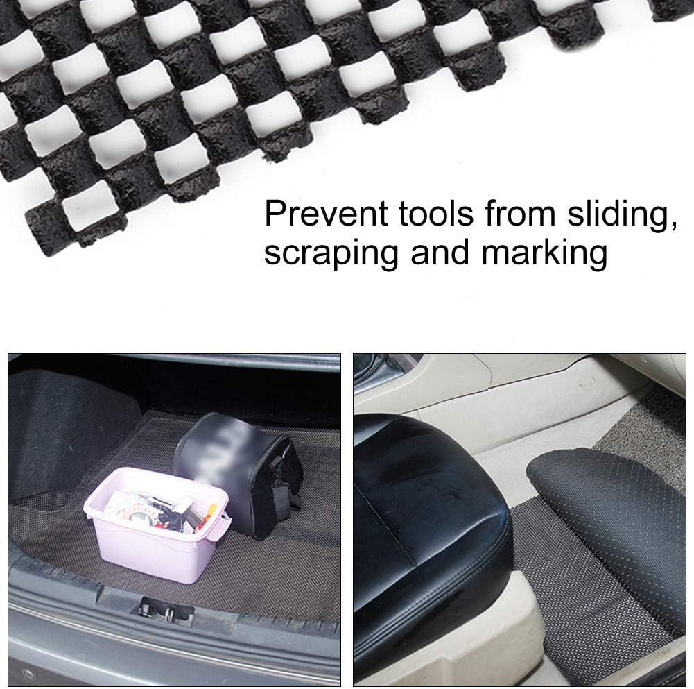 Qii lu Car Floor Mat Car Anti-Slip Mat Non Slip Pad for Automobile Caravan 150 30cm Black