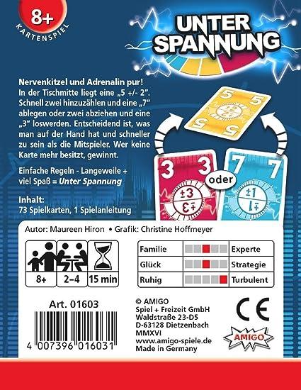 Spiele Kartenspiel Maureen Hiron Spiel Deutsch 2016 Unter Spannung AMIGO Kartenspiel