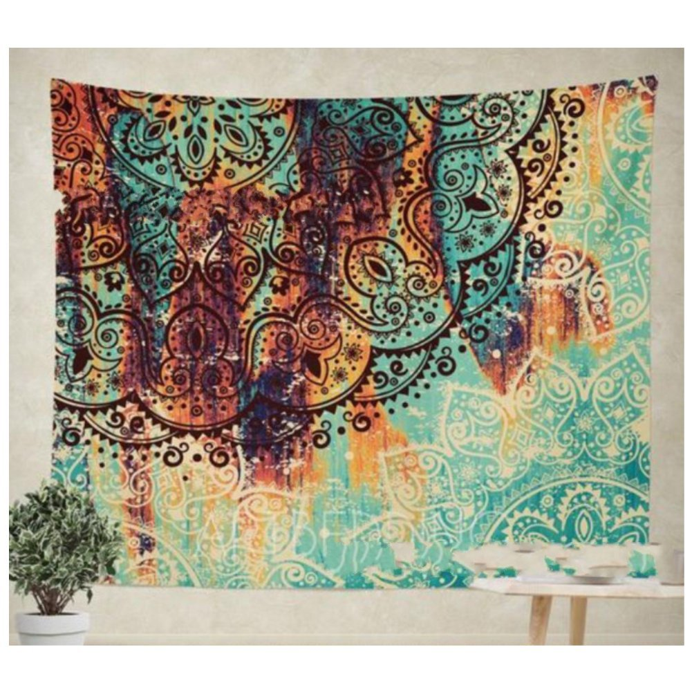 5951 YGUII New Hippie Mandala Bohemian Psychedelic Intricate Floral Design Indian Bedspread Magical Thinking Tapestry 150130cm