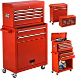High Capacity 8-Drawer Rolling Tool Chest 2in1 Portable Tool Box Organizer