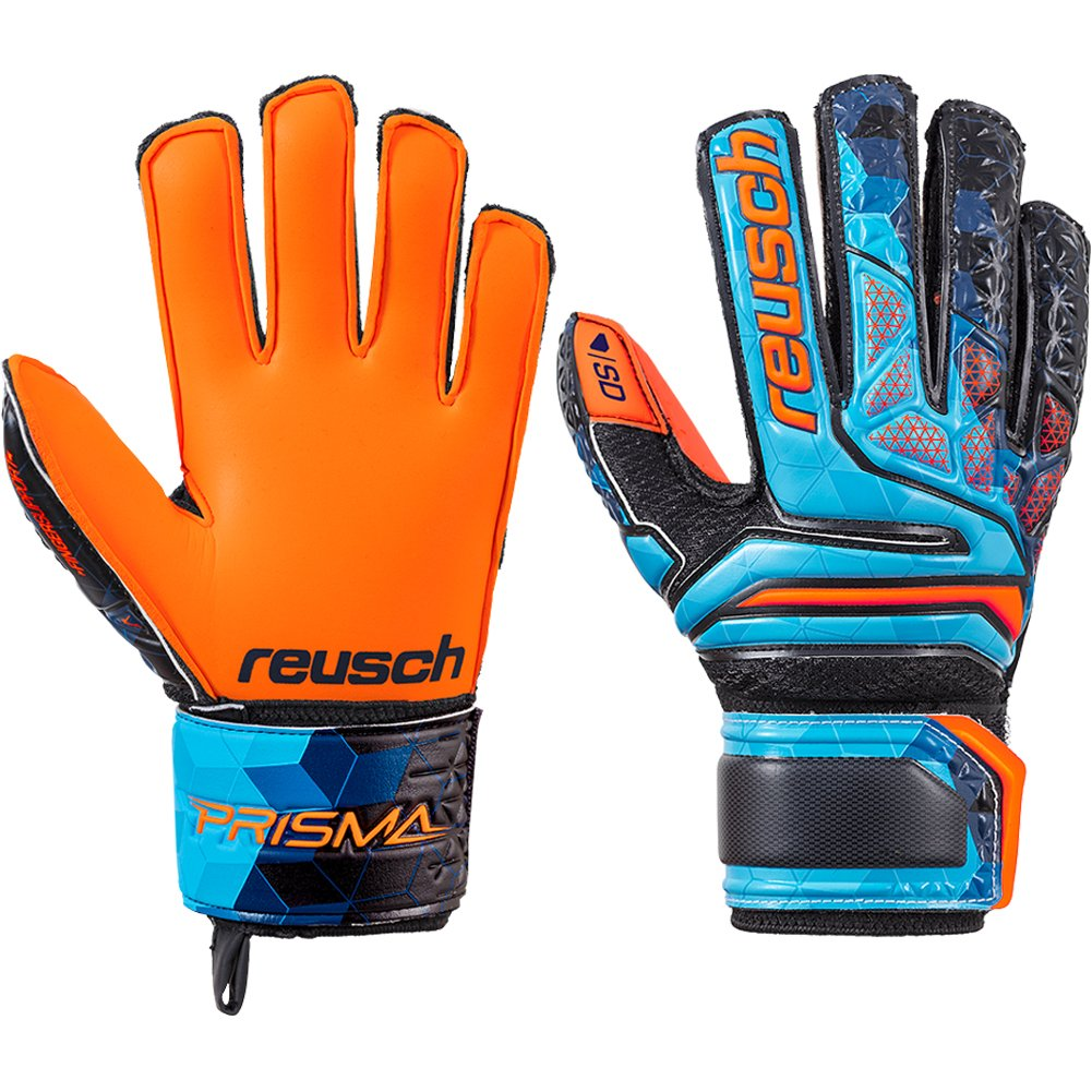 Guante de portero Reusch Prisma SD Finger Support Niño Blue-Black-Orange   Amazon.es  Deportes y aire libre 745739b6cb3c5