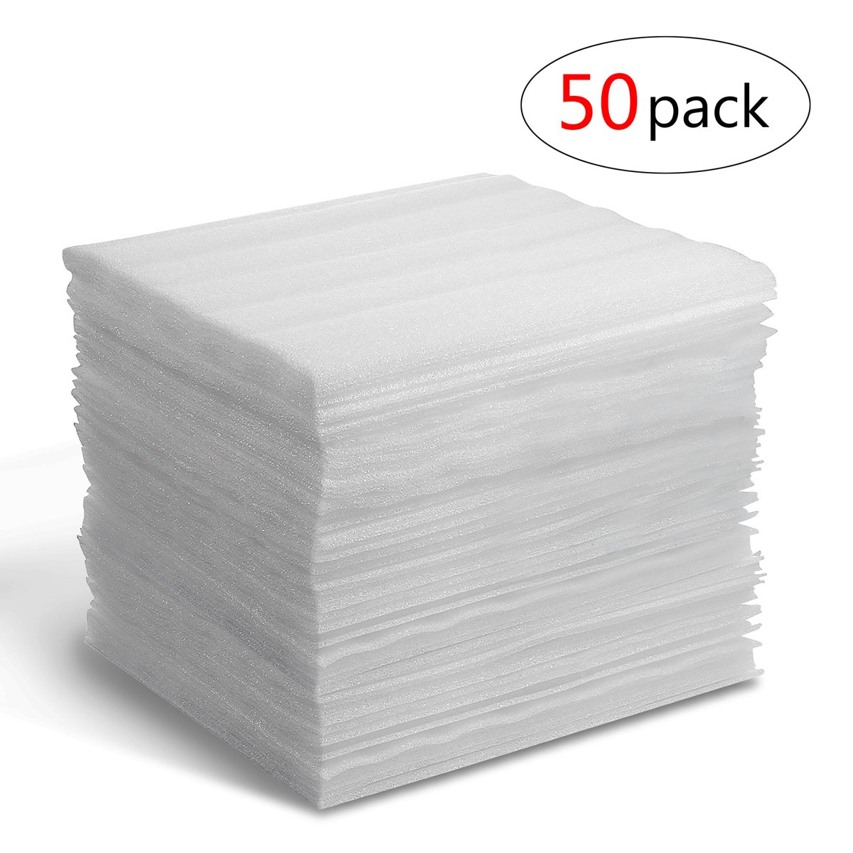 Cushion Foam Sheets Foam Wrap Sheets Epe Foam Sheets for Packing and Moving Supplies,Protecting Fragile Valuables 13.8'' X 12.9'' 50 Count