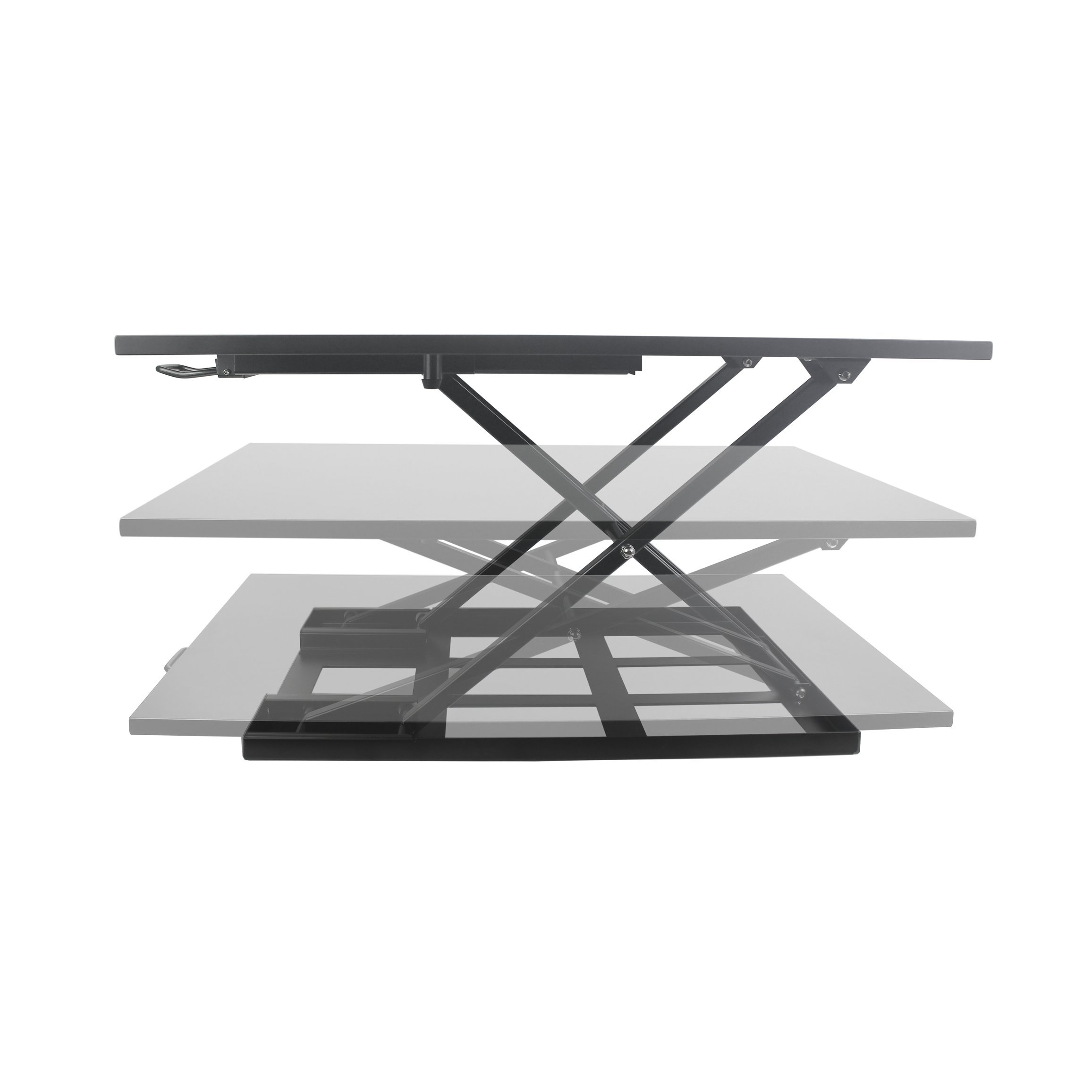 Best Standing Desk, Adjustable Height Riser Converter, Stand Up or Sit Down, 32'' Black Office Desktop, Computer Monitor & Laptop Workspace, Unlimited Ergonomic Positions for Better Health, Casiii UP32 by Casiii (Image #2)