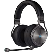 Corsair Virtuoso RGB Wireless SE High-Fidelity Gaming Headset, 7.1 Surround Sound, Broadcast-Grade Omni-Directional…
