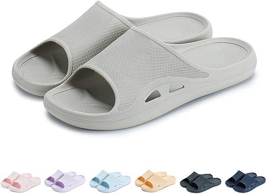 Oksoo Sandalias De Ducha Antideslizantes Para Mujer Y Hombre Zapatos De Baño Suaves Y Ligeros Gris Shoes
