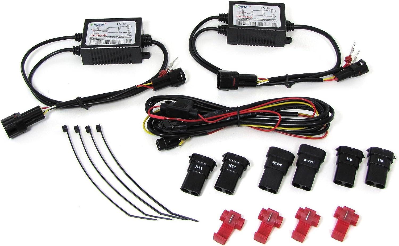 Carparts Online 29999 6 Klarglas Led Nebelscheinwerfer Mit Tagfahrlicht Auto