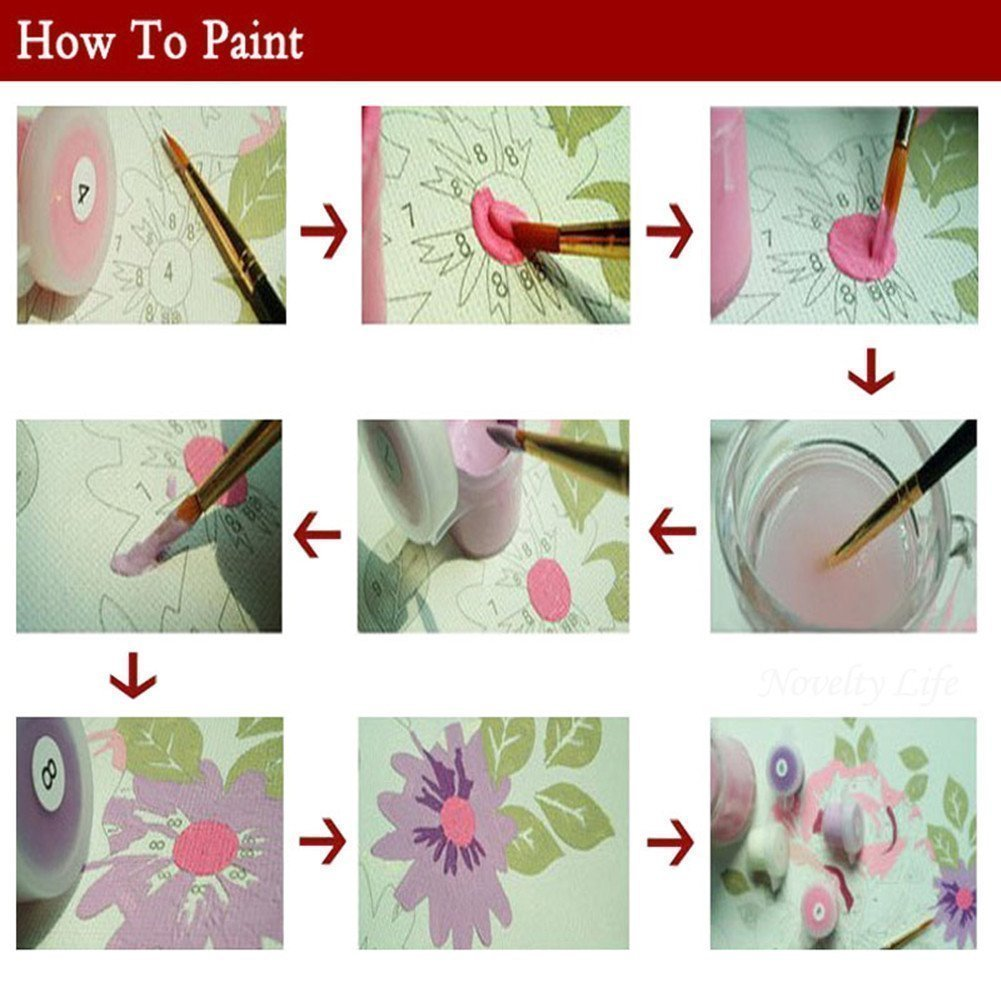 """iCoostor Paint by Numbers DIY Acrylic Painting Kit for Kids /& Adults Beginner 16/"""" x 20/"""" Whale Pattern"""