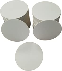 """MT Products 4"""" Blank Off-White Heavyweight Cardboard Round Coasters for Your Beverages 2 MM Thickness By MT Products(100 Pieces)"""