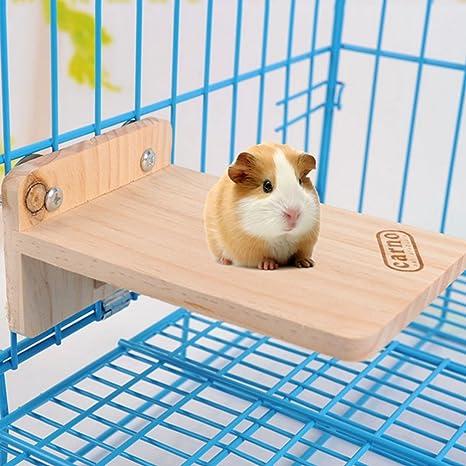 yunt juguete plataforma para hámster Stand piso de madera juguete ...