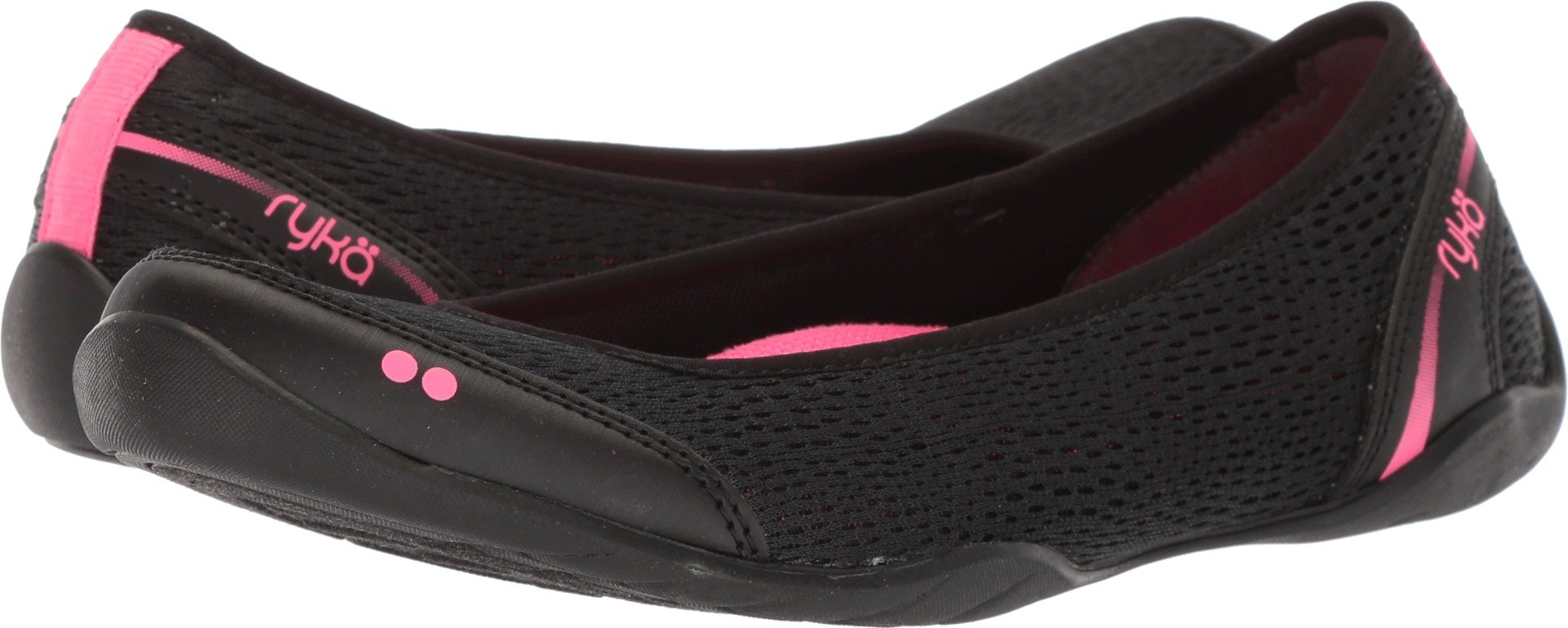 Ryka Women's Sandra Walking Shoe, Black/Pink, 9.5 M US