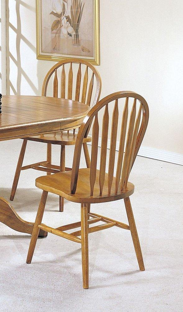 ACME 06344OAK Set of 4 Nostalgia Deluxe Arrow Back Windsor Chair, Oak Finish