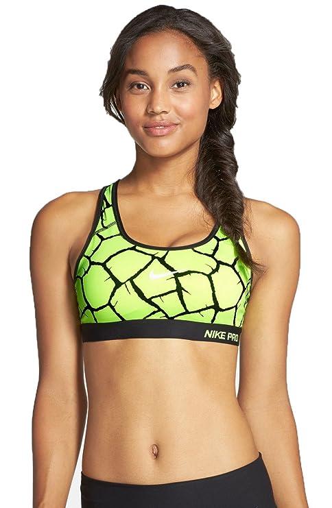 48e4451a90d66 Nike Women s Pro Classic Padded Giraffe Sports Bra (Medium