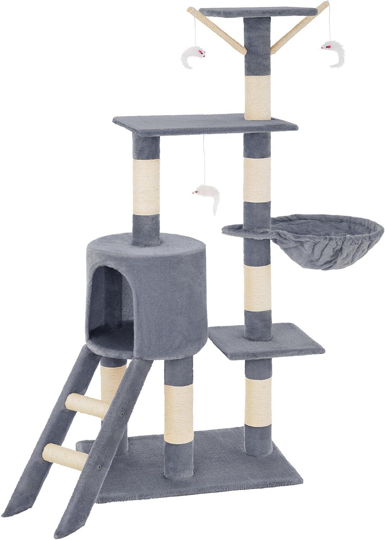 TecTake Rascador Árbol para Gatos (Gris | no. 401433)