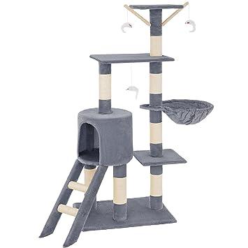 TecTake Rascador Árbol para Gatos (Gris   no. 401433): Amazon.es ...