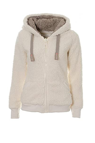 Hooded Sherpa Womens Kooos Teddy Ladies Soft Fleece Jumper Hoody OwPXZiukTl