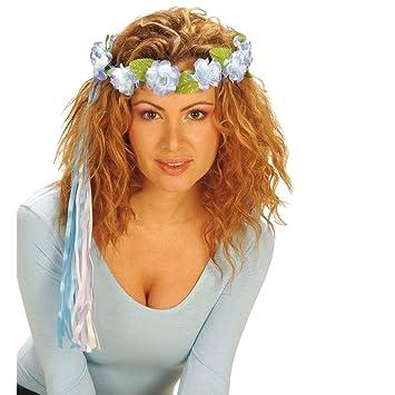 32d2dcb587ae9c NET TOYS Blumen Haarband Hippie Kopfschmuck blau Haarschmuck Blumenkranz  Blumenkrone Haarkranz Kopfband Kranz im Haar Flower