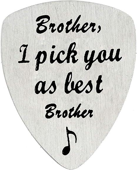BESPMOSP - Púa de guitarra para hermano con texto en inglés
