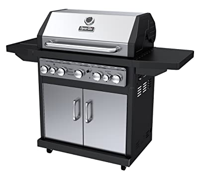 Dyna-Glo Black & Stainless Premium Grills, 5 Burner, Liquid Propane Gas