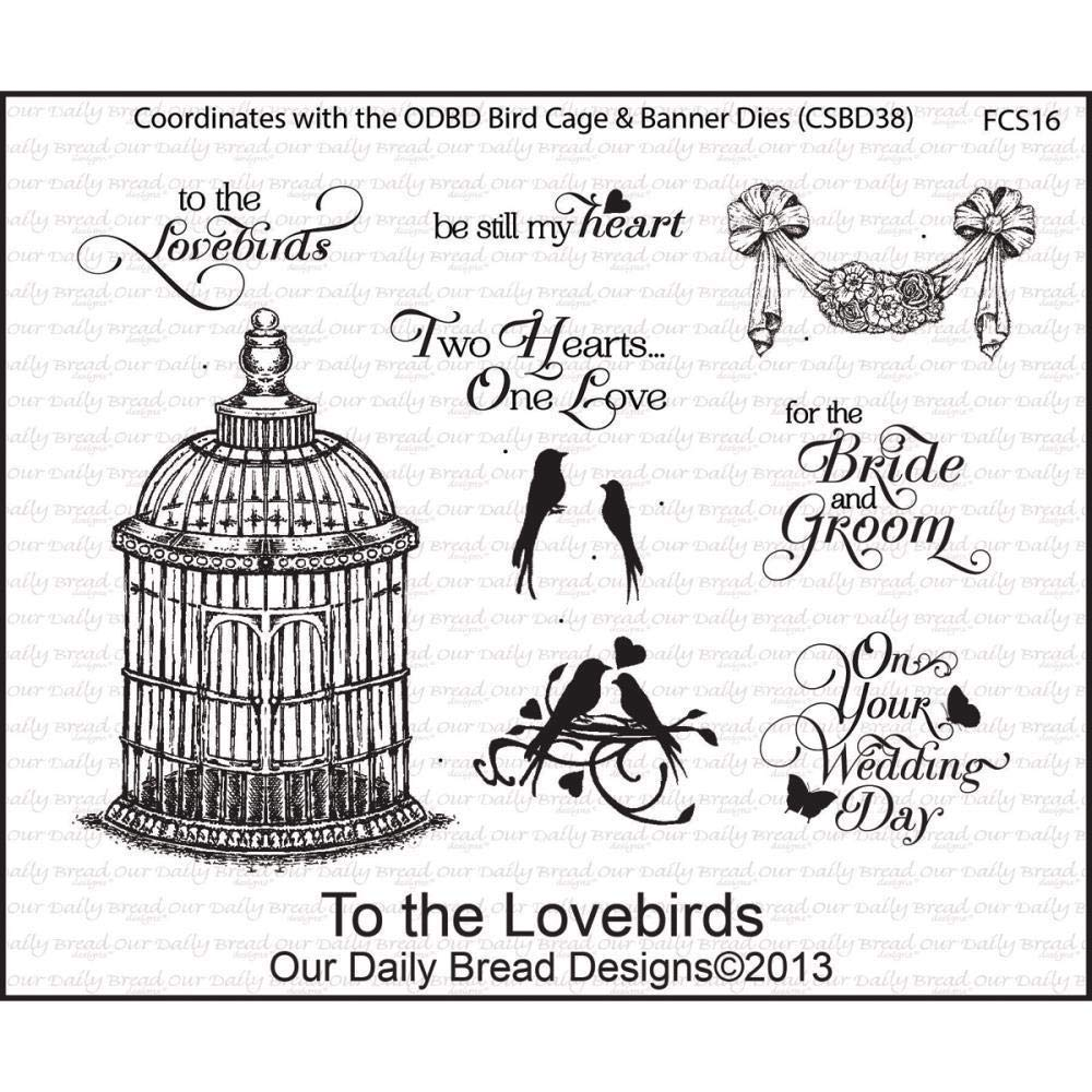 ShopForAllYou Stamping & Embossing to The Love Birds Clear Cling Stamp Collection Our Bread New Wedding Art