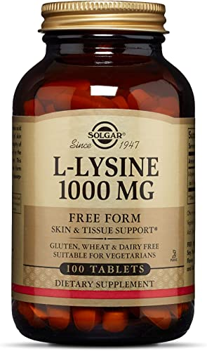 Solgar L-Lysine 1000 mg, 100 Tablets