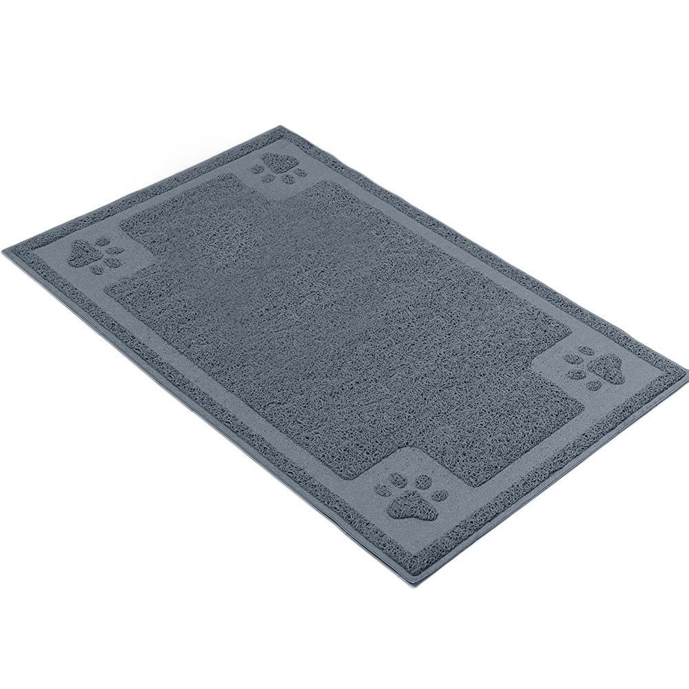 H&ZT Pet Feeding Mat,Pet Bowl Mat for Dogs and Cats,Non-Slip Absorbent Waterproof Dog Food Mat (35''x24'', Grey)