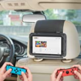 Switch Car Holder, WANPOOL Car Headrest Mount Holder Compatible with Nintendo Switch and Other 7 Inch Tablets