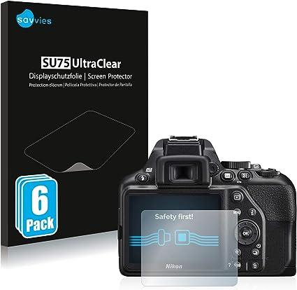 savvies Protector Pantalla Compatible con Nikon D3500 (6 Unidades ...