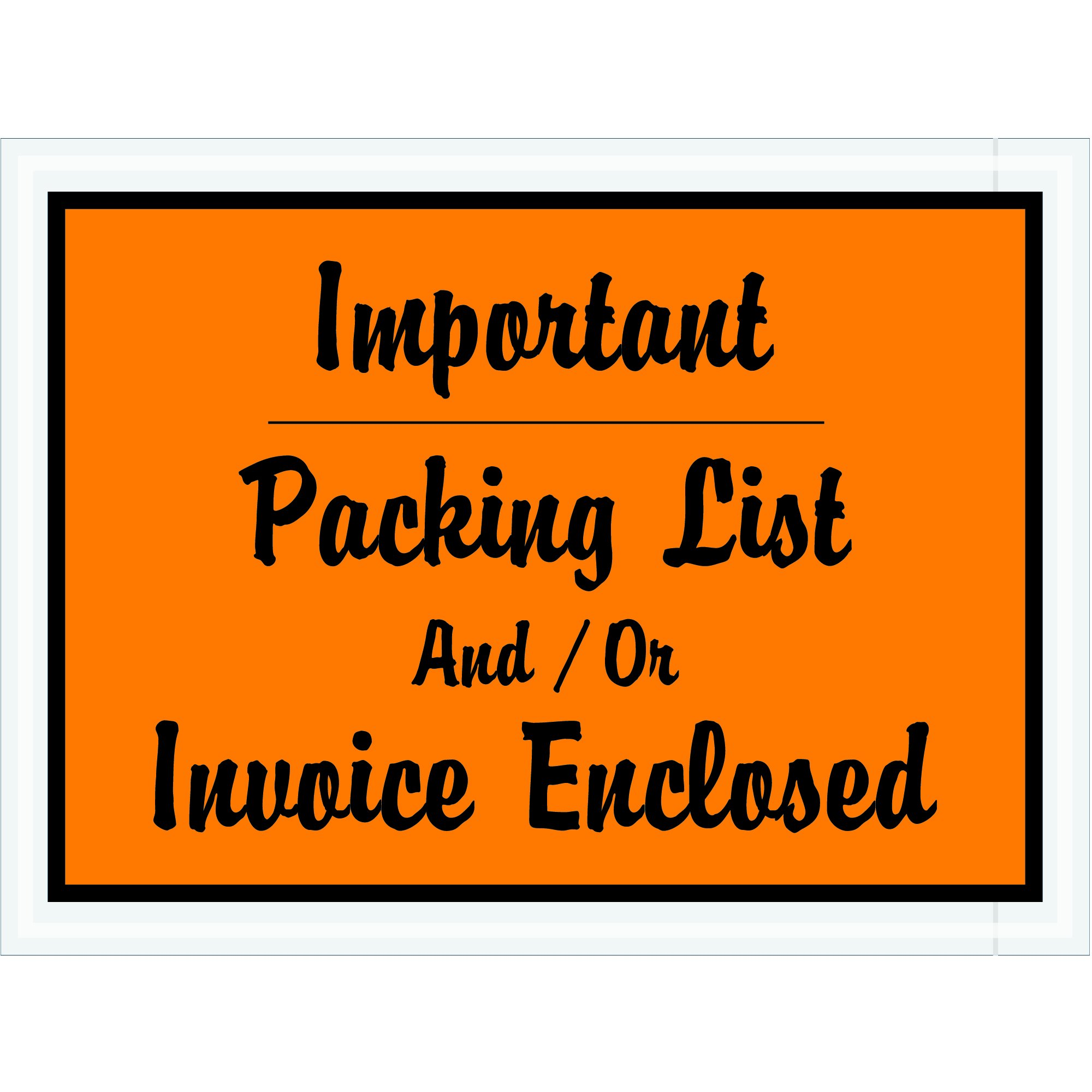Tape Logic TLPL4''Important Packing List And/Or Invoice Enclosed'' Envelopes, 4 1/2'' x 6'', Orange (Pack of 1000) by Tape Logic