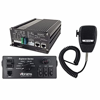 amazon com abrams exp 100c explorer console mount siren 100w 2 8 rh amazon com