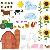 Farm Wall Decals by My Wonderful Walls – 38 Peel & Stick Farm Theme Stickers for Baby Nurseries and Kids Rooms