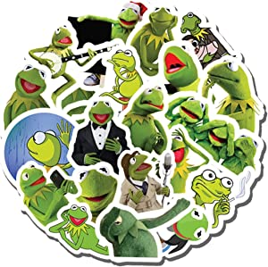 20 PCS Stickers Pack Kermit Aesthetic Meme Vinyl Colorful Waterproof for Water Bottle Laptop Scrapbooking Luggage Guitar Skateboard
