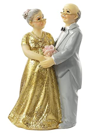 Goldene Hochzeit Goldhochzeitspaar Ii Tortendekoration