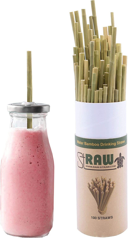 RawStraw Biodegradable Plant-Based Water Bamboo 7.75