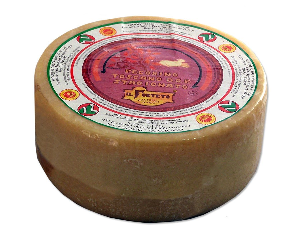 Aged Pecorino Toscano D.O.P. Cheese - Approx. 5 Pounds-Wheel