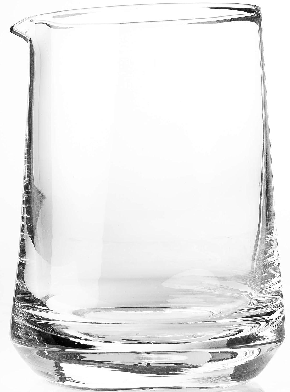 Cocktail Set fü r gerü hrte Drinks | Rü hrglas mit klassischem Yarai Wabenmuster aus 100% bleifreiem Glas, Edelstahl Hawthorne Barsieb und Europä ischer Barlö ffel (Crystal Lake 3teilig) The Elan Collective