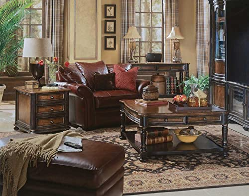 Hooker Furniture Preston Ridge Wood Top 3 Drawer Chairside Chest
