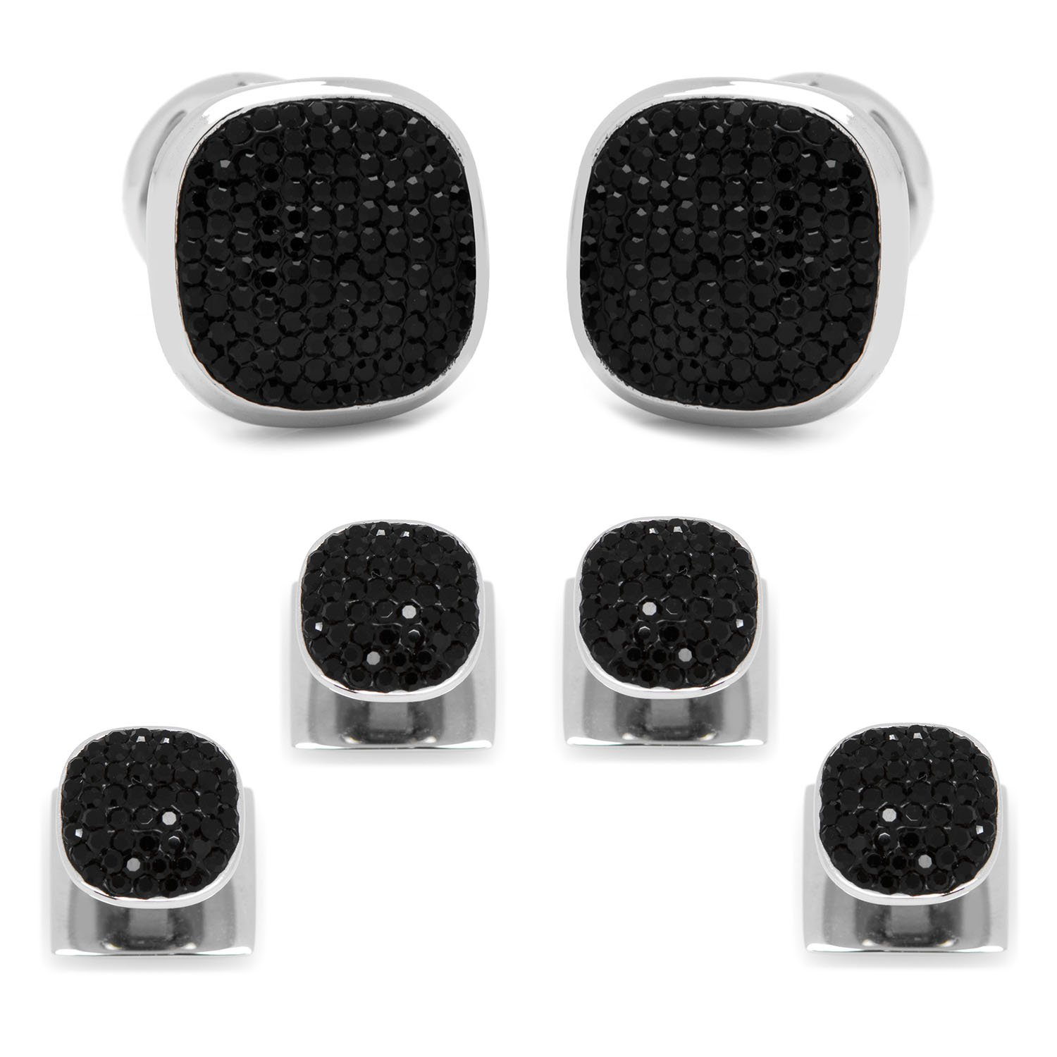 Black Pave Crystal Stud Set