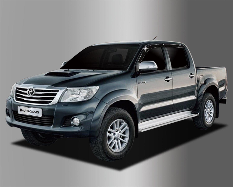 Autoclover Toyota Hilux 2005– 2015 Dé flecteurs d'air Lot de 4 piè ces (Fumé )